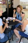A woman and her coffee... watch out! Carol, Lina and Norma.
